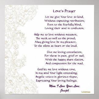 Poster-Personalizar del rezo del amor de la mamá Póster