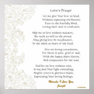Poster-Personalizar del rezo del amor Póster