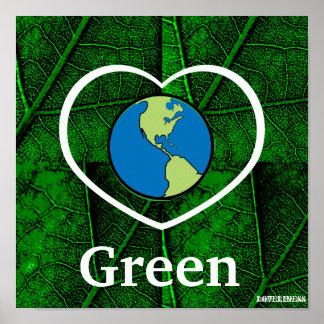 Poster-Personalizar verde del amor