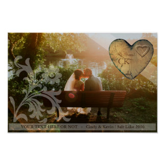 Poster personalysed - Heart Wood couples
