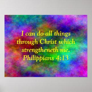 Poster phil del verso de la biblia del arco iris.