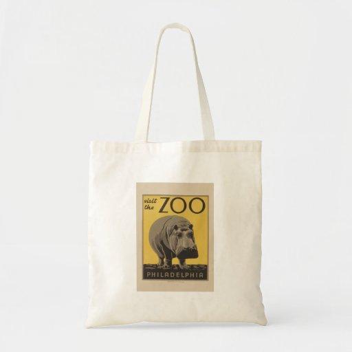 Poster Philadelphia del parque zoológico de WPA de Bolsa Tela Barata