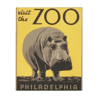 Poster Philadelphia del parque zoológico de WPA de Impresión En Lona