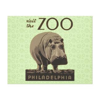 Poster Philadelphia del parque zoológico de WPA de Impresión En Lona Estirada