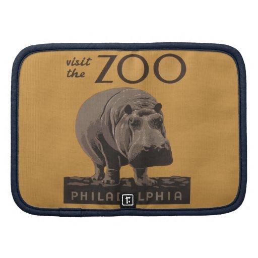 Poster Philadelphia del parque zoológico de WPA de Organizador