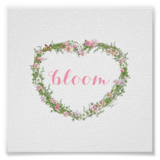 Poster/Picture - Floral Heart Bloom Poster