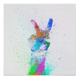 Poster pintado de la paz