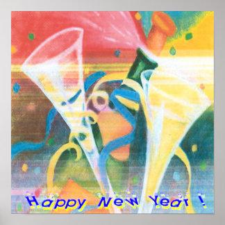 Poster pintado del Año Nuevo
