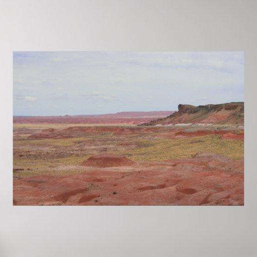 Poster pintado del paisaje del desierto