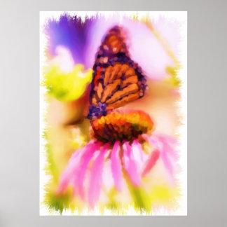 Poster pintado hermoso de la mariposa