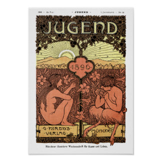 Poster: Pipes of Pan - Jugend Magazine May 1896