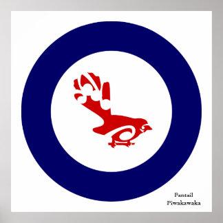 Poster Piwakawaka de la cola de milano
