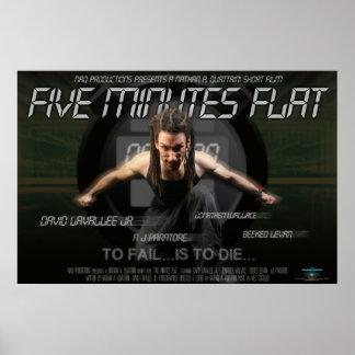 "Poster plano de ""cinco minutos"""