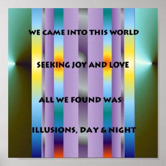 Poster poético de las ilusiones
