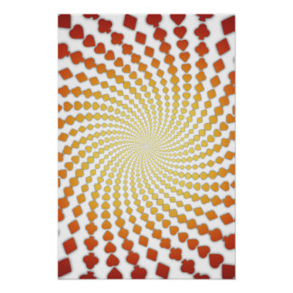 Poster: Poker Card Suits Spiral