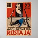 Poster polaco 1922 Canva grande de la prohibición