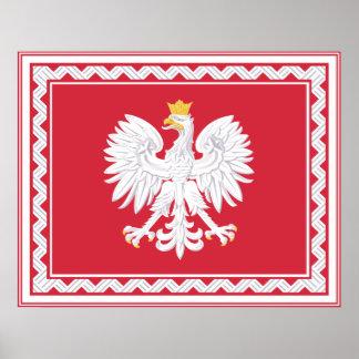 Poster polaco de la bandera