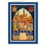 Poster polaco del viaje del vintage felicitaciones