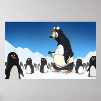 Poster polar del pingüino póster