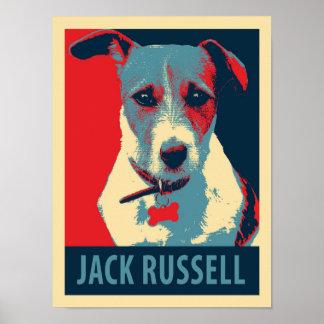 Poster político de la parodia de Jack Russel