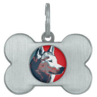 Poster político de la parodia del husky siberiano placa mascota