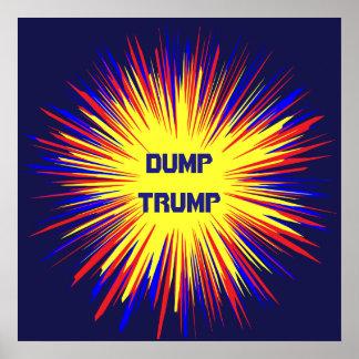 Poster político del triunfo de la descarga