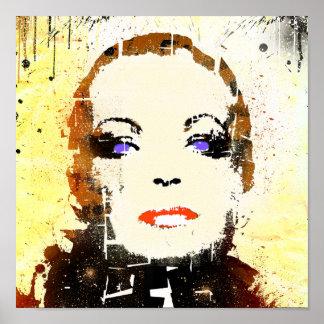 """POSTER pop art Patriciastore """"woman portrait"""""""