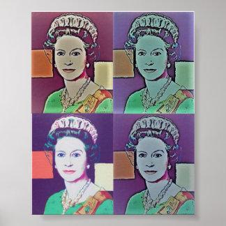 Poster - Pop Art 'The Queen'