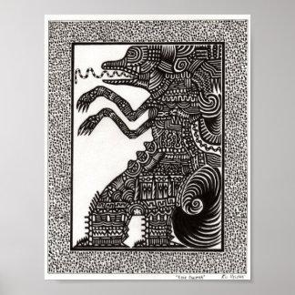 Poster popular del monstruo