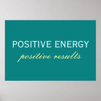 Poster positivo de los resultados positivos de la