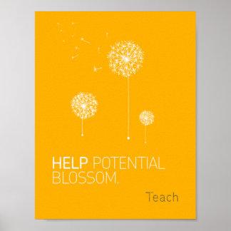 Poster potencial del flor de la ayuda