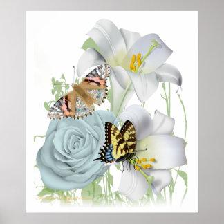 Poster precioso de la escena del jardín
