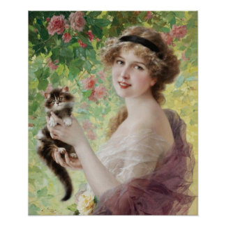 Poster precioso del gatito de Emilio Vernon