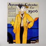 Poster/Priint:  Vintage - calendario auto - Penfie