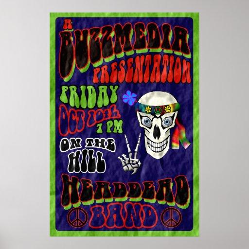 Poster principal del concierto de la banda muerta