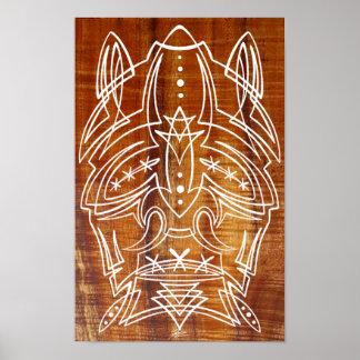 Poster principal encogido de rayas de Tiki