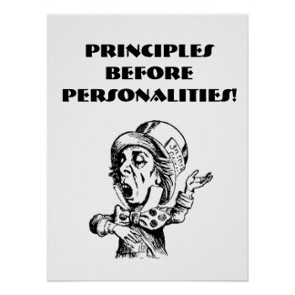 POSTER -PRINCIPLES BEFORE PERSONALITIES 18 x 24""