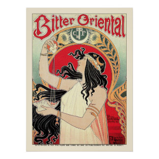 Poster Print: Art Nouveau - Bitter Oriental