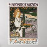 Poster Print: Art Nouveau - L.Rhead - Thanksgiving