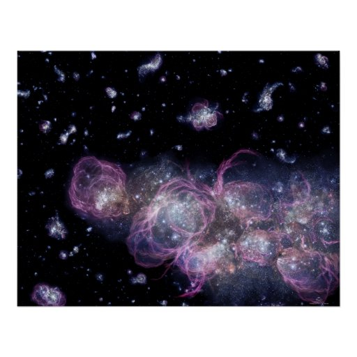 Poster/Print: Baby Galaxy in the Universe Poster