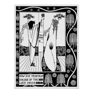 Poster/Print: Beardsley -The Love Drink Poster