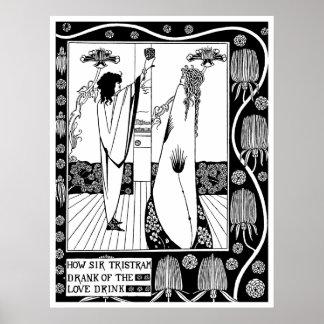 Poster/Print: Beardsley -The Love Drink Poster