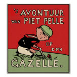 Poster Print: Bicycle Adventures of Piet Pelle