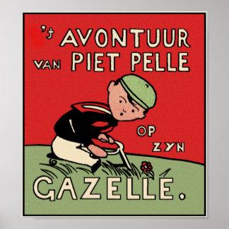 Poster Print: Bicycle Adventures of Piet Pelle