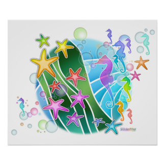 Poster, Print, Canvas - Under The Sea Pop Art Poster