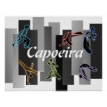poster print capoeira martial arts axe fighters