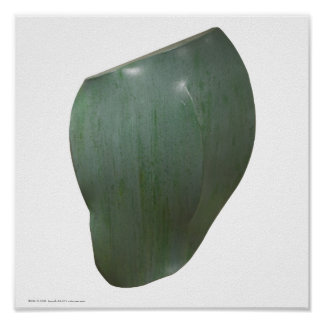 "Poster/Print: ""Celadon Undulate"" Poster"