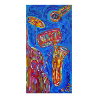 Poster Print - Cool Blue Jazz