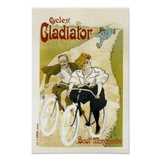 Poster/Print: Cycles Gladiator - Vintage Bicycles Poster