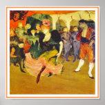 Poster/Print: Dancing the Bolero: Toulouse-Lautrec